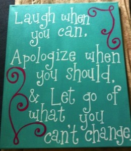 apologize and let go