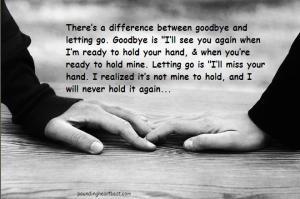 letting go vs goodbye